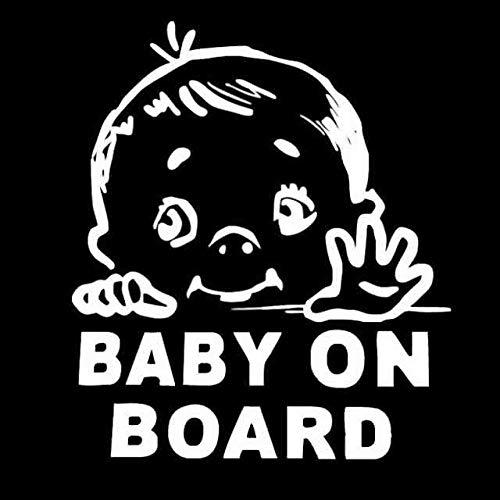BJDKF 12,9 cm x 15 cm Mooie kinderen baby aan boord veiligheidsbord autosticker en decal vinyl auto styling decoratieve grafische kaart Wit