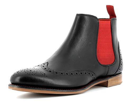 Gordon & Bros Damen Chelsea Boots Paris 5776,rahmengenähte,Flexible Frauen Stiefel,Halbstiefel,Stiefelette,Bootie,Goodyear Welted,Schlupfstiefel,Black,EU 37