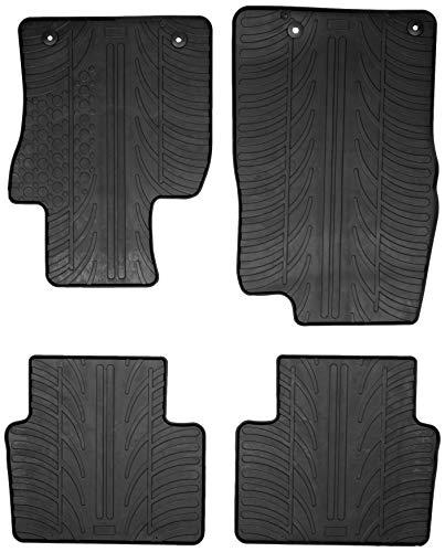 Gledring Set tapis de caoutchouc compatible avec Mazda 3 2/2019- (T profil 4-pièces + clips de montage)