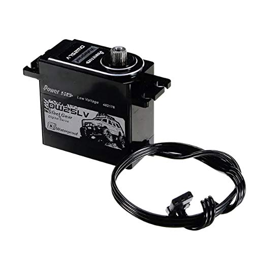 TMIL Motor De Alto Par Impermeable De Titanio Metal Gear Servo Digital 25Kg / 0,12 S 6V para RC Buggy Gasolina, RC Orugas del Carro del Coche