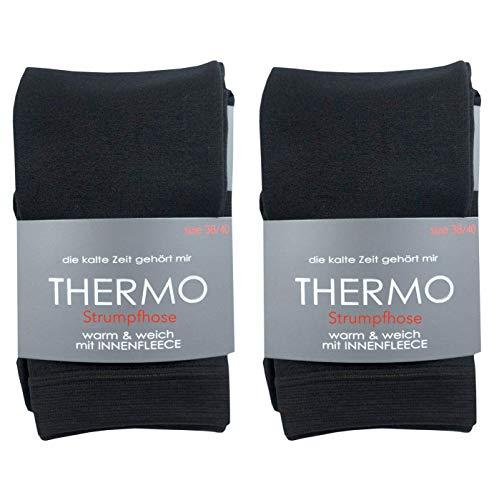 Schwarze Thermostrumphose mit Innenfleece