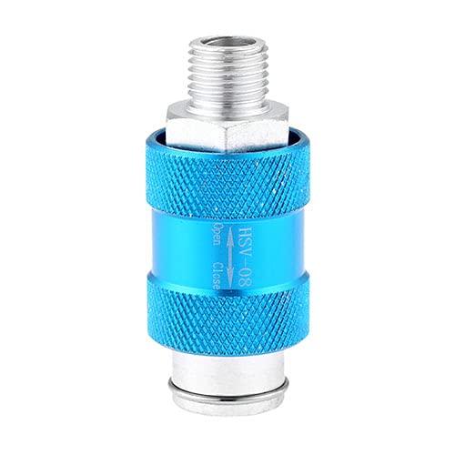1 UNID ALUMINIO HSV-08 1/4'(12.5mm) Tubería de rosca Tubo de escape Mano Interruptor de deslizamiento de deslizamiento Válvula de ventilación Push Pushe Manumatic Components DUO ER