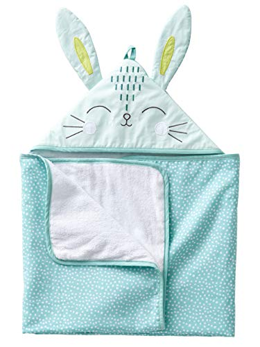 VERTBAUDET Capa de baño para bebé Conejito Verde claro 70X100