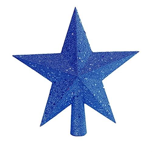Adorno colgante de estrella de cinco puntas con estrella superior de rbol de Navidad para suministros de decoracin de rbol de Navidad (Color : Large, Size : 15cm/20cm)