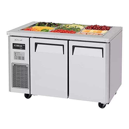 Turbo Air JBT-48-N Refrigerated Counter, Salad Bar, 2 Stainless Steel Doors, Includes