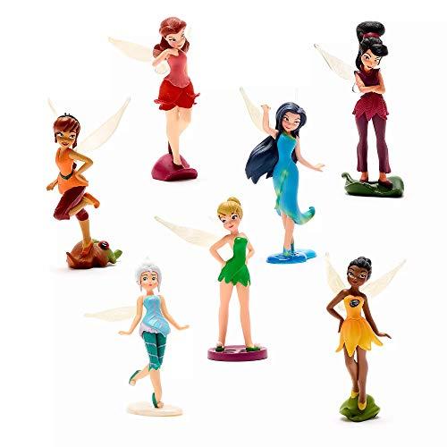 Disney Juego de figuras de hadas de Tinkerbell juego de 7 figuras de hadas en caja