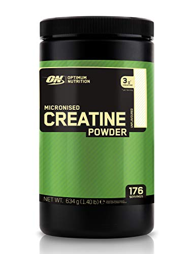 Optimum Nutrition Micronised Creatine Powder, Unflavoured Monohydrate Powder for Muscle Growth, 176 Servings, 634 g