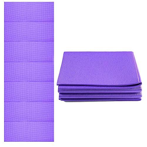 FreshWater Esterilla de yoga gruesa plegable, ecológica y portátil, tapete de viaje antideslizante, ideal para hombres y mujeres