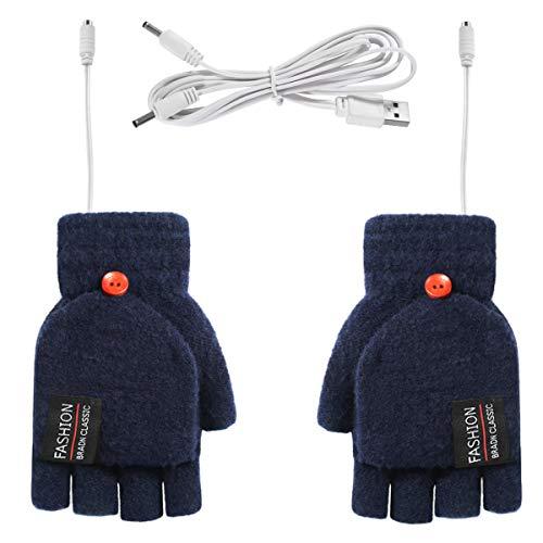 Rehomy Guantes de invierno cálidos y de punto para calentar por USB,...