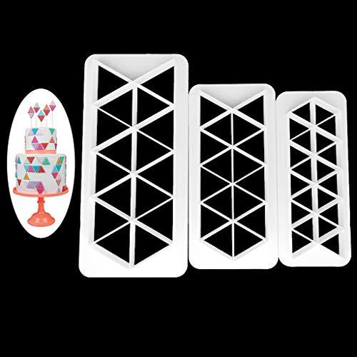 xiaome 3 Pezzi attrezzo per Fondente per taglierina per Biscotti al Cioccolato in plastica a Forma di Triangolo
