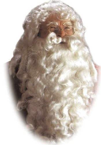 Santa Claus Deluxe Wig & Beard One Size