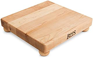 John Boos Block B12S Maple Wood Edge Grain Cutting Board with Feet, 12 Inches Square, 1.5 Inches Thick
