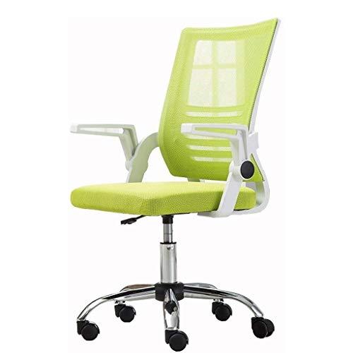 Ygqbgy Sedia da ufficio della parte girevole media posteriore della maglia Task sedia con braccioli ergonomici Computer Office Chair (Color : Green)