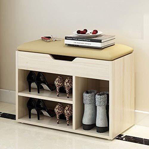 Houten schoen bank met opslag, voor woonkamer, multifunctionele moderne schoenenkast schoenenrek, geschikt voor keuken, badkamer, slaapkamer, kind of volwassenen