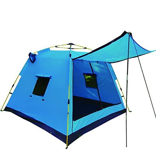 Tienda de campaña al Aire Libre de Las Personas 3-4 Sol de Verano casa de Playa for Acampar Acampar al Aire Libre y la Lluvia (Color : Blue)
