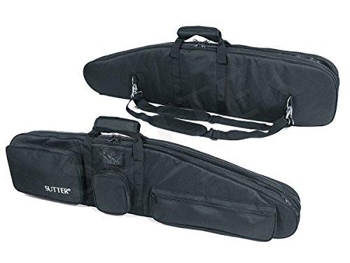 SUTTER Funda para Armas Doble Premium 125x37cm - Funda para Dos Armas largas con ópticas Maletín para Rifles