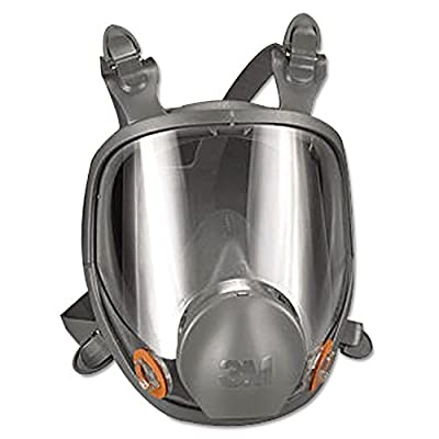 3M Safety 142-6800 Safety Reusable Full Face Mask Respirator, Grey, Medium by 3M