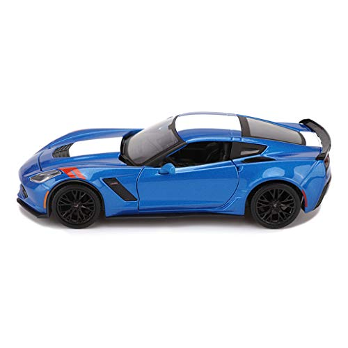 CHGDFQ Modelo De Coche Coche 1:24 Simulación De Aleación De Fundición A Presión Adornos De Juguete 2017 Corvette Sports Car Collection Joyería 19x9x5.3 CM