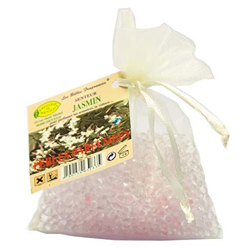 Perles parfumées pour armoire, linge, voiture - senteur Jasmin - Artisan Parfumeur en Côte d'Azur