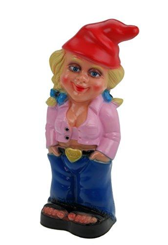 Gartenzwerg Mandy Pink Zwergenfrau aus bruchfestem PVC Zwerg Made in Germany Figur
