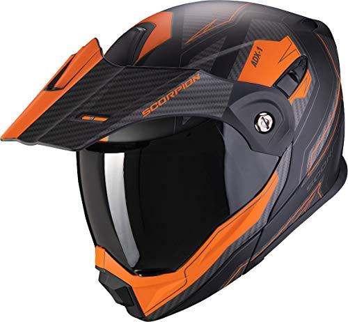 Scorpion Motorradhelm ADX-1 TUCSON Matt Black-Orange, Schwarz/Orange, L, 84-301-168-05