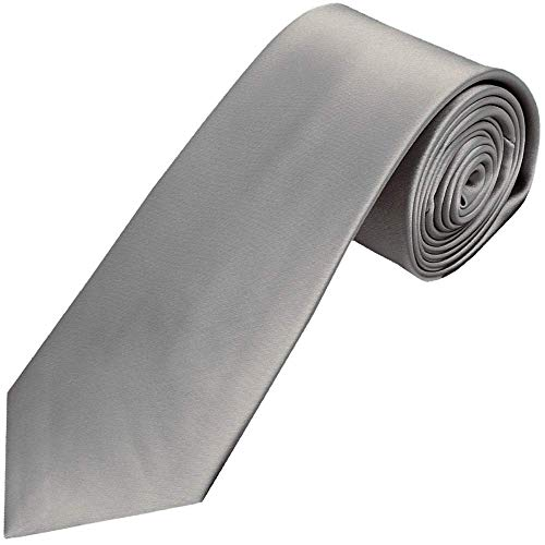 Osking Tie Solid Satin Plain Classy Colored Formal Necktie for Men