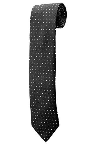 Cravate noire carrés noirs gris DESIGN costume homme mariage cérémonie