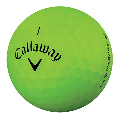 Callaway Golf 2018 Superhot Bold Matte Green 15 Pack Personalized Golf Balls