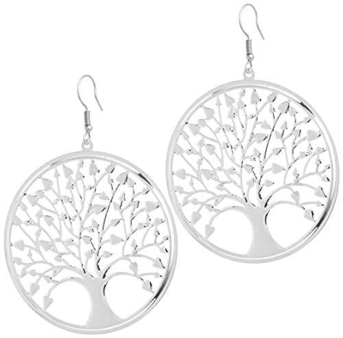 2LIVEfor Pendientes de árbol de la vida de plata para novia, estilo...