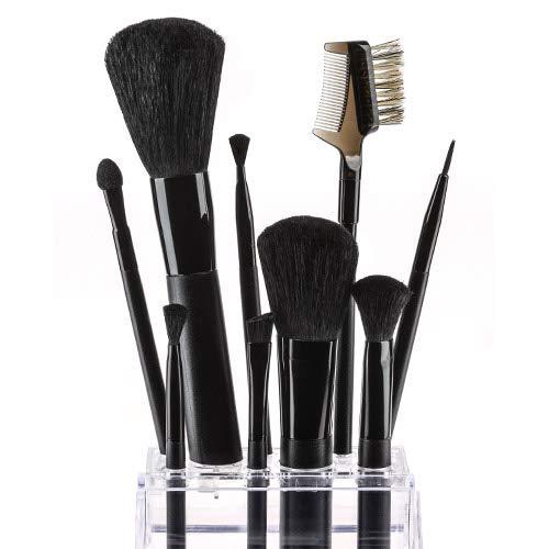 Fashion Make-Up FMU2101400 Set Pinceaux avec Miroir 10 Pièces