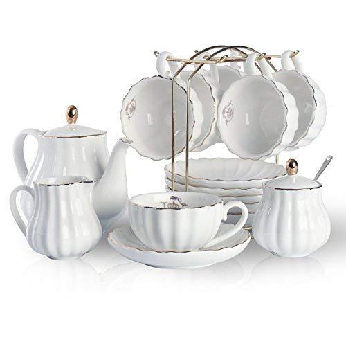 Sweejar Home Service à thé en porcelaine avec tasses...