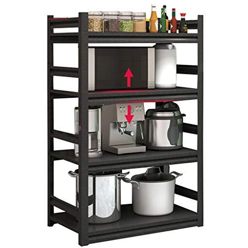 XLOO Storage Shelf,Kitchen Rack,4-Layer Microwave Oven Shelf Workstation Organizer (Metal Frame),Practical Storage Shelf,Adjustable,Easy to Clean,Multifunctional Storage