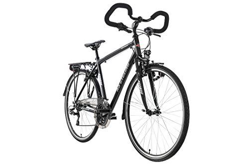 KS Cycling Canterburry Trekkingrad 28'' Canterbury Cadre en Aluminium pour Homme Noir Mat 53 cm