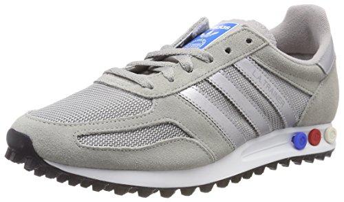 adidas La Trainer, Zapatillas de Gimnasia para Hombre, Gris (Mgh Solid Grey/Metallic Silver-SLD/FTWR White), 49 1/3 EU