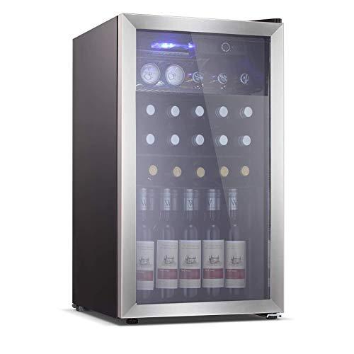 Electactic 26 Bottle Wine Cooler/Cabinet Mini Wine Fridges 130 Can Beverage Refrigerators Small Wine...