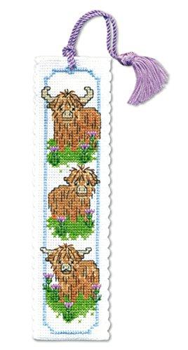 Textile Heritage Hieland Coos Bookmark - Cross Stitch Kit