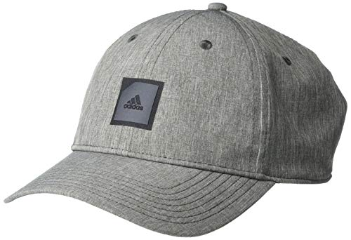 adidas Golf Golf Men's Adi Heather Patch Hat, Grey, One Size Fits Most