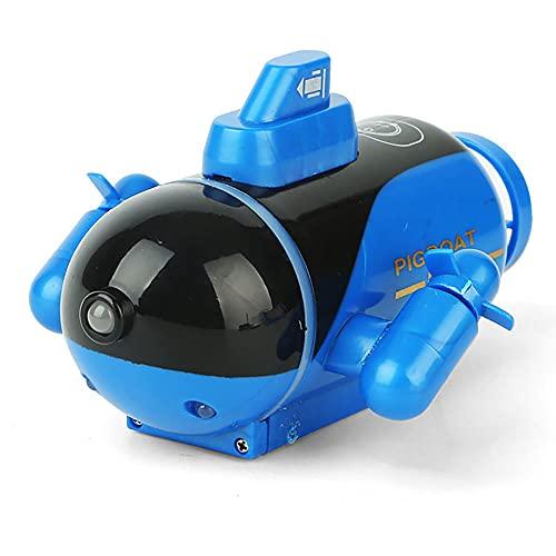 ALYHYB Barcos RC, Mini Submarino De Control Remoto, Barco De Velocidad RC 2.4G Para Niños Con Luces, Juguetes De Agua Modelo Náutico Para Niños, Barco De Juguete Eléctrico De Carga Para Niños, Regalos