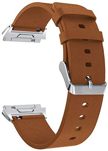 Reloj de Correa Cuero Compatible con Fitbit Ionic, Hombre Repuesto La Correa (Pattern 4)