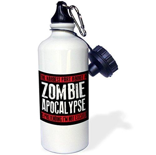 La parte más dura sobre una botella de agua Zombie