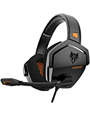 XIBERIA Gaming Headset for Xbox One/PS4/PS5/PC/Mac,Controller,Noise Cancelling Over Ear Headphones with Mic, Bass Surround Soft Memory Earmuffs