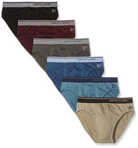Pierre Cardin Sportman, Pack x 6 Slip Básico Para Hombre, Multicolor 2, L