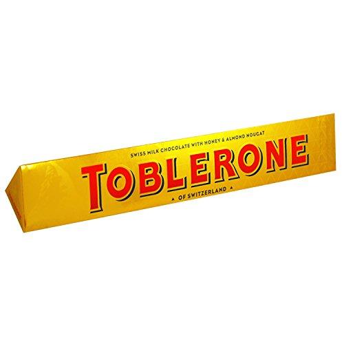 Toblerone Schokolade / Feine Schweizer Milchschokolade mit Honig- und Mandelnougat / Großtafel /1 x 360g
