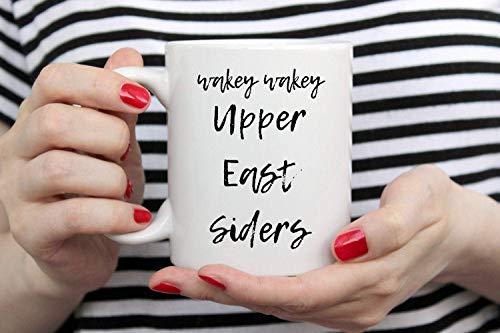 Personalisierte Namensbecher Wakey Wakey Upper East Siders. XOXO Gossip Girl Geschenk. Manhattan Becher. New Yorker Geschenk für Sie. Schwester Kaffeebecher oma Nana Frau