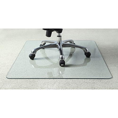Lorell Tempered Glass Chairmat C...