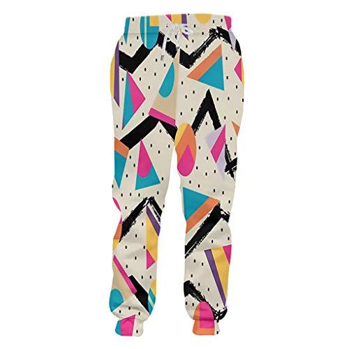 Pantalones Casuales Boy Sueltan De Largo Los Pantalones 3D ImpresióN 3D PolíGono De Hip Hop Ropa Grande De Calibre para Hombres Pantalones De Invierno Polygon XXL