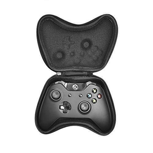 subtel® Tasche kompatibel mit Xbox Series X, Series S, One, One Elite Controller Kunststoff Schutzhülle Tasche Flip Cover Case Etui schwarz