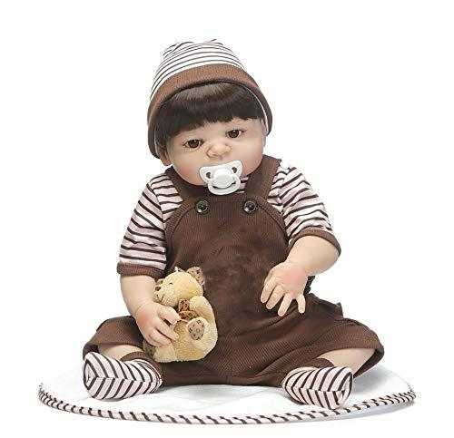 Bebes Herboren 46 CM Volledige Siliconen Reborn Baby Boy Poppen Speelgoed Luxe Set Met Beer Kind Baden Speelgoed Boneca Reborn Poppen Voor Kid