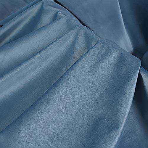 MUYUNXI Tela De Terciopelo Suave para Coser De Chaquetas Decoración Decoración del Hogar Cortinas Tapicería Vestido Sillas 150 Cm De Ancho Vendido por Metro(Color:Azul Profundo)