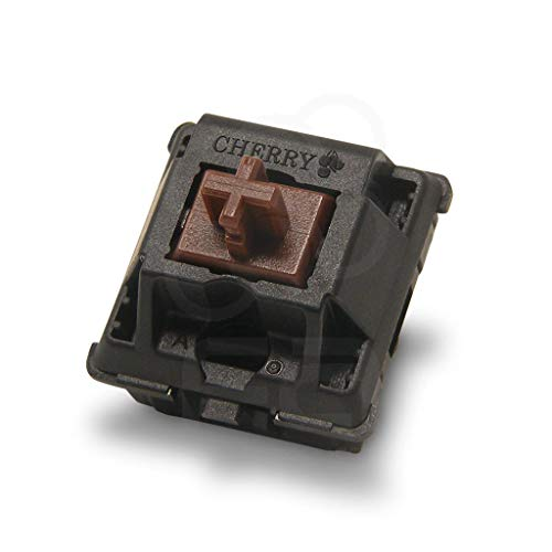 Cherry MX Brown Keyboard switches (10 Pieces)- MX1AG1NN | Plate Mounted | Tactile Switches for Mechanical Keyboard, Packed in PP Protective Case.